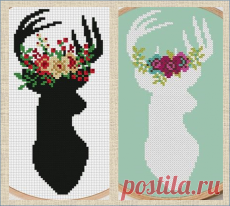 50 схем с волшебными оленями для вязания, вышивки или плетения   МНЕ ИНТЕРЕСНО   Яндекс Дзен