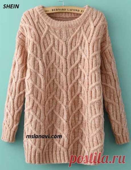 Вязаное платье-свитер от SHEIN | Вяжем с Лана Ви