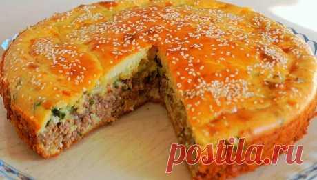 Вкуснейший заливной пирог с мясом и сыром | Вкусное хобби | Яндекс Дзен