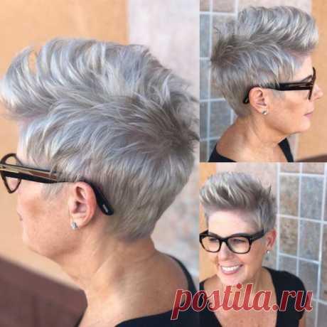 Элегантные стрижки на короткие волосы для женщин 50+ | ladyline.me | Яндекс Дзен