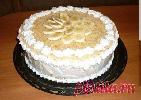 (2) Торт с бананами без выпечки - пошаговый рецепт с фото. Автор рецепта Елена Верховод . - Cookpad