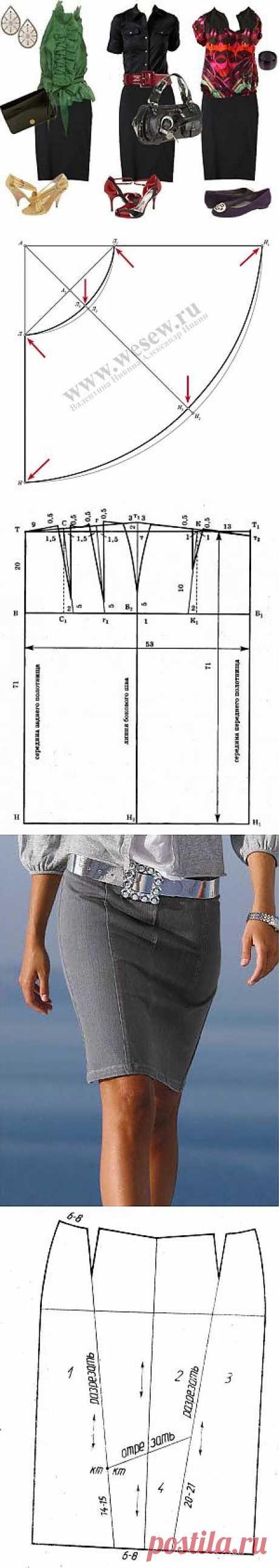 модели юбок с выкройками