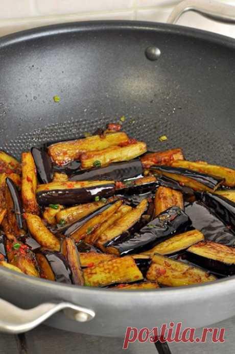 Шикарная, пикантая, остренькая баклажановая закуска!Баклажаны в остром чесночном соусе, по-китайски.