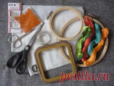 Вышивка гладью для начинающих (пошагово)