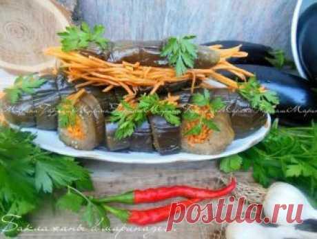 Баклажаны в маринаде с начинкой: закуска просто  супер! Пальчики будете облизывать!