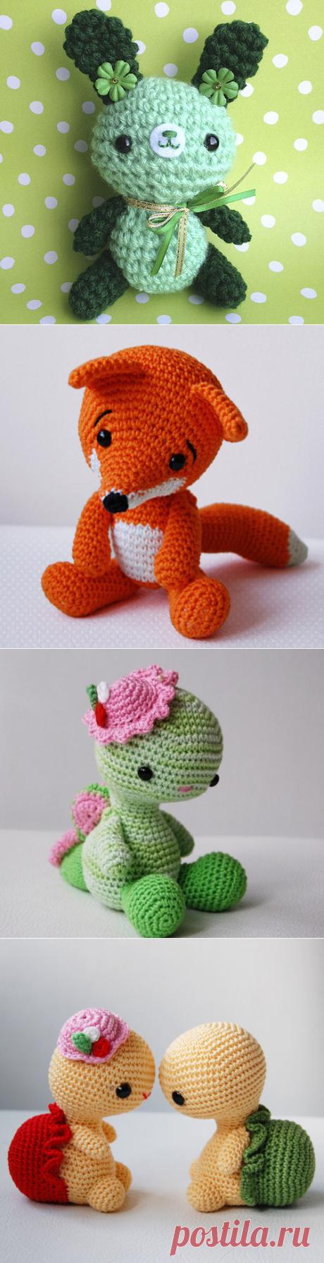 Knitted toys of an amiguruma