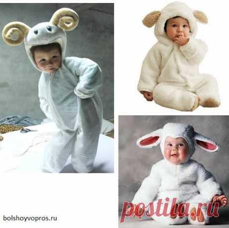Выкройка детского костюма Овечки на Новый год