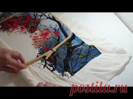 Как я запяливаю пяльцы от Nurge/ Подготовка процессов к вышивке