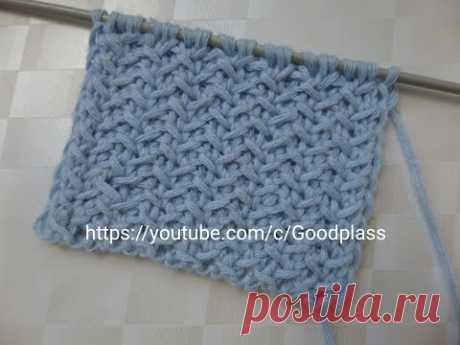 Knitting of a beautiful, dense pattern spokes. Knitting(Hobby).