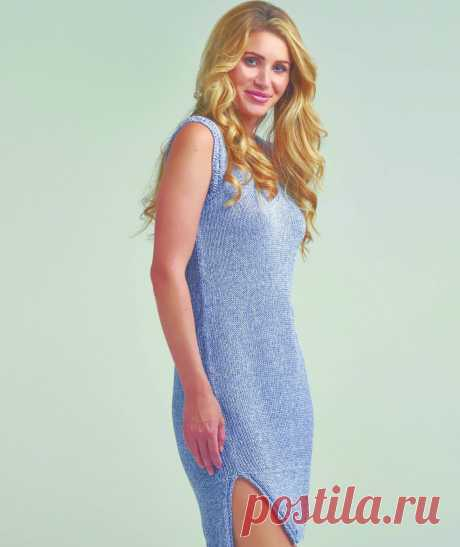 Летнее платье с разрезами по бокам описание вязания - WEKNIT