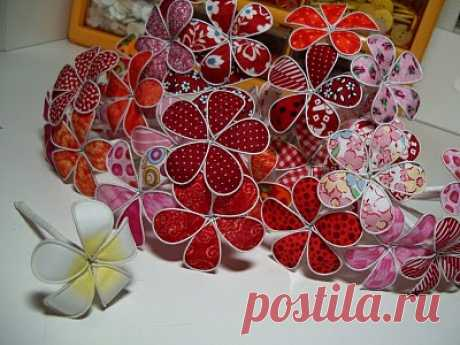 Цветы из проволоки и ткани   Эфария