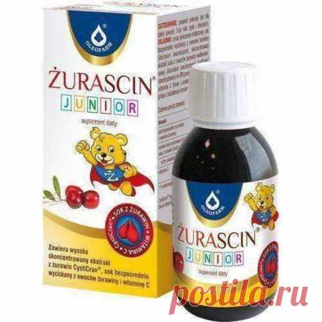 Żurascin Junior Syrup 100ml Children over 3 years strengthens the body