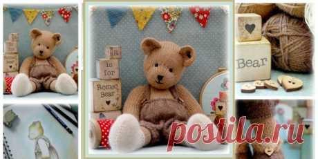 Медведь спицами ROMEO Вязаный спицами медведь с подробным описанием. Милый симпатичный вязаный мишка в штанишках может не только стать игрушкой для ребенка, но и послужит отличным подарком для взрослого. Игрушки от Сюзан выделяются ее особым почерком, будь то куклы, зайцы или медведи.