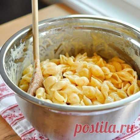 Паста с сырным соусом