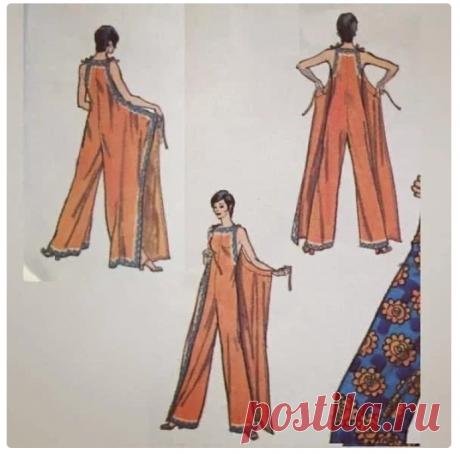 Ретро комбез и платье (выкройки) Модная одежда и дизайн интерьера своими руками