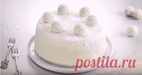 Торт Рафаэлло – невероятно вкусный и роскошный десерт для особого случая