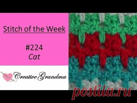 Stitch of the Week #224 Cat Stitch  (Free Pattern at the end of the video)