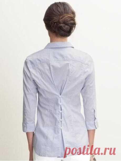 Идеи переделок из мужской рубашки