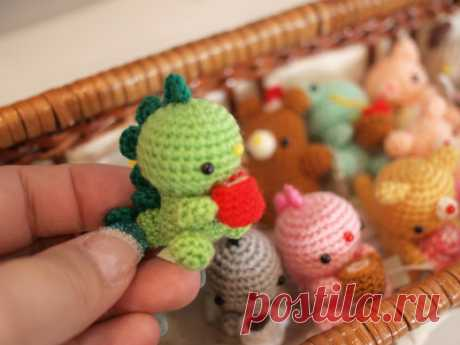 Malyshi-amigurumi: a drakonchik and everything, everything, all (a hook, we knit together on-line)