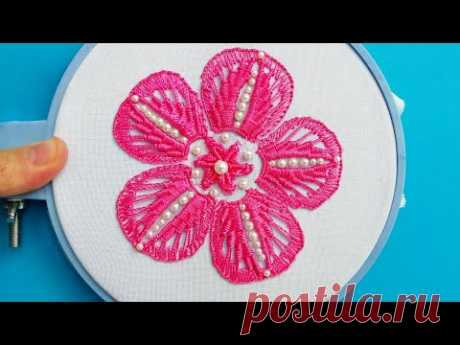 Flower Fantasy Macrame * Amazing Hand Embroidery * Easy Bead Work #malina_gm