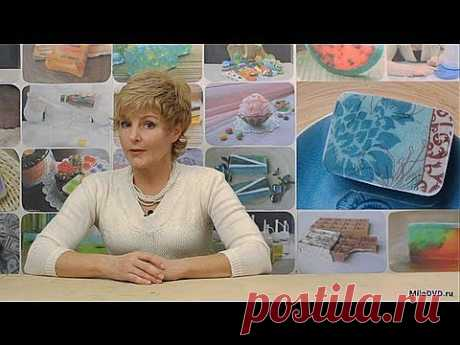 "▶ Видео мастер-класс: ""Декупаж на мыле"" - YouTube"