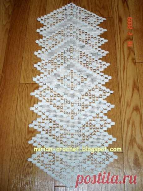 Прекрасное филейное вязание