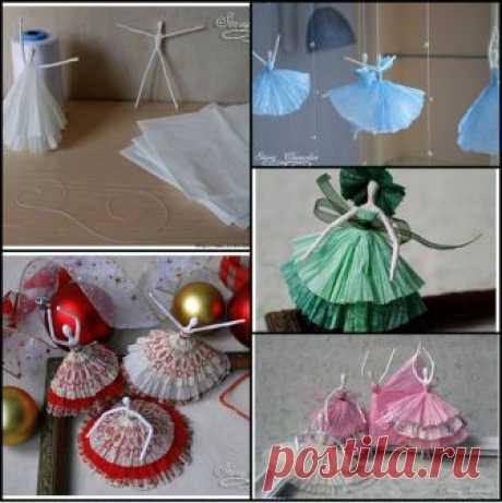 Создаем объемные Новогодние украшения из бумаги