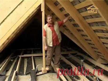 Теплоизоляция крыши..