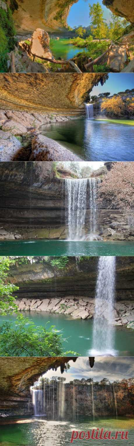 Удивительное озеро Hamilton Pool