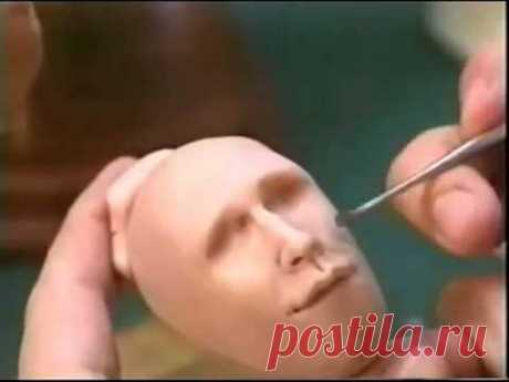 Лепим голову куклы часть 2   YouTube - YouTube