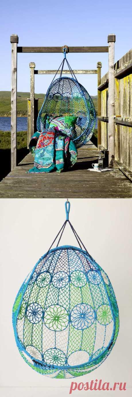 Openwork suspended garden chair-kachelya.