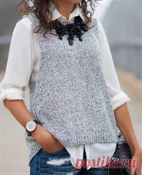 Модные, стильные, эффектные! Подборка вязаных жилетов и безрукавок   Идеи рукоделия   Яндекс Дзен
