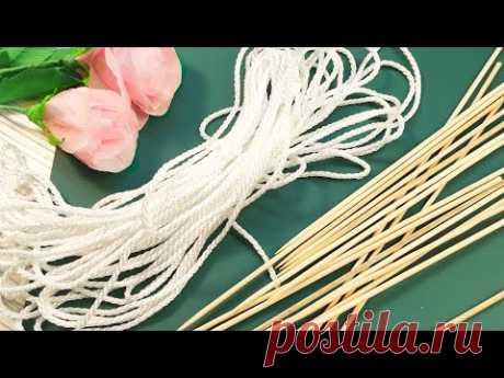 Покажу секрет бельевой веревки!   Подарки своими руками на день матери - YouTube