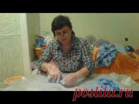 валяем варежки на 3D шаблоне-4 часть - YouTube