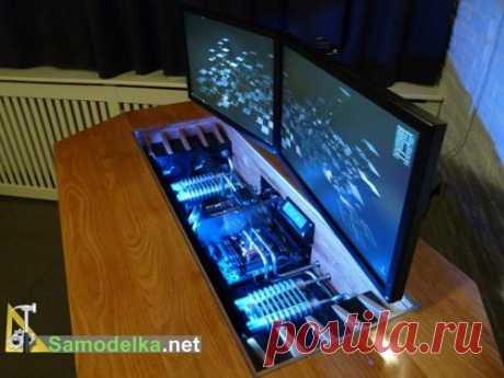 Шикарный самодельный стол, совмещенный с компьютером - Nebka.Ru