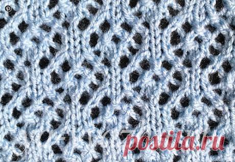 Ажурные узоры спицами со схемами : Ажурные цветы, Воздушная кукуруза и Жучки