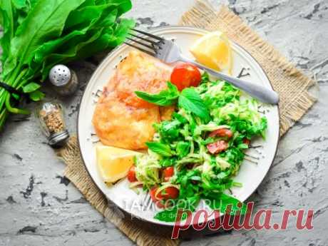 Салат из щавеля с кабачками