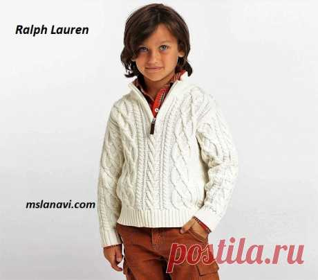 Свитер-поло для мальчика от Ralph Lauren - СХЕМА
