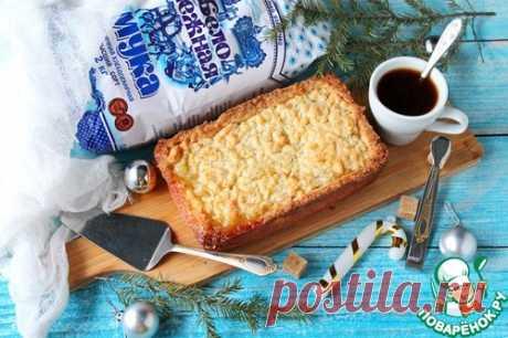 Песочный пирог с творогом и ананасом – кулинарный рецепт