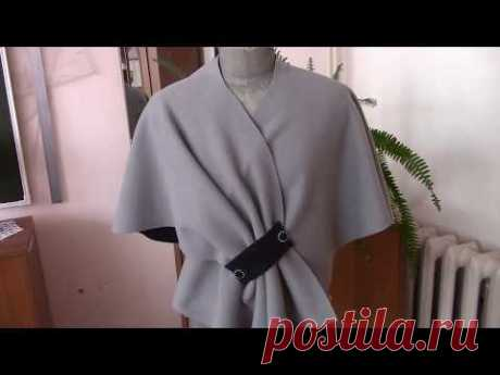Cape from fleece in 6 minutes. How to make a cape of fleece.