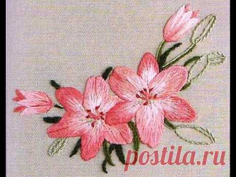 Satin stitch embroidery, satin stitch embroidery step by step, we embroider a point