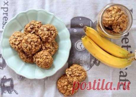 Банановое печенье Просто и вкусно
