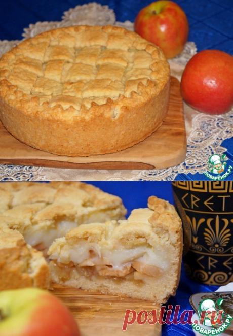 Яблочный пирог с заварным кремом – кулинарный рецепт