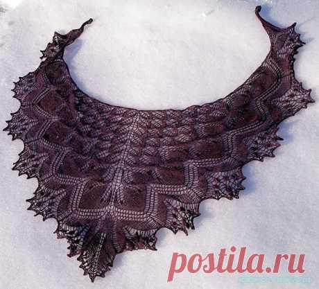 Красивое вязание | Шаль спицами Эолиан (Aeolian).