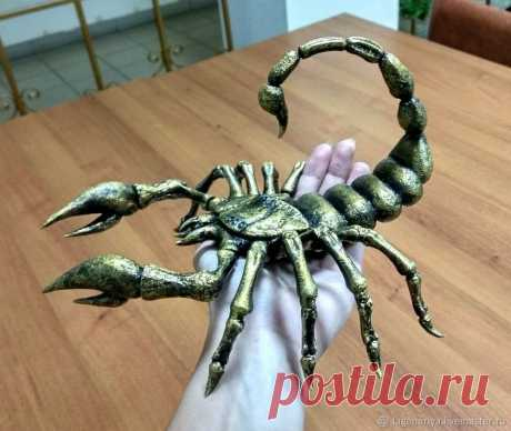 Делаем красавца скорпиона из ничего – Ярмарка Мастеров