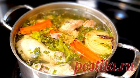 Как сварить куриный бульон. Основа для наваристого куриного супа. Вкусный куриный бульон.   Рецепты в гостях у Вани   Яндекс Дзен