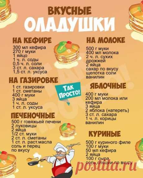 Кулинария>Вкусные оладушки