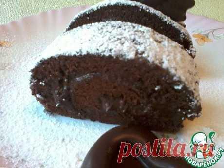 Бисквитный шоколадный рулет. Автор: Диана Б