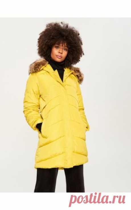 Стеганое пальто с капюшоном, RESERVED, TQ767-81X Стеганое пальто с капюшоном, Куртки, пальто, зеленый, RESERVED