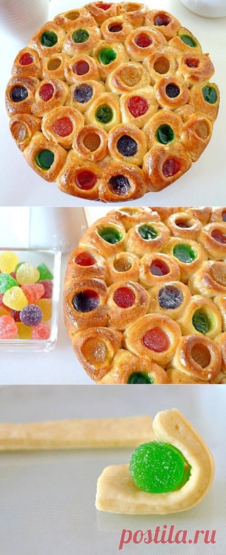 Пирог с мармеладом.